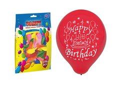 Balónek nafukovací standard 23cm Happy Birthday mix