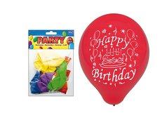 Balónek nafukovací 12ks sáček standard 23cm Happy Birthday mix