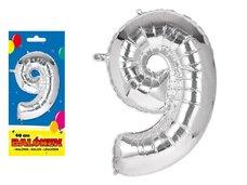 Balónek č. 9 nafukovací fóliový 40 cm