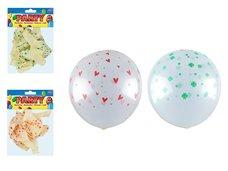 Balónek nafukovací 12ks sáček transparent potisk 30cm