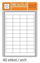 Print etikety 48,5 x 25,4 mm, bílé samolepící, 100 listů