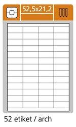 Samolepící etikety 52,5 x 21,2 100 listů