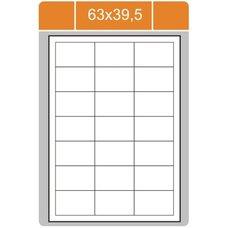 Print etikety 63 x 39,5 mm, bílé samolepící, 100 listů