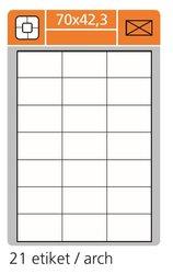 Print etikety 70x42,3 mm,bílé samolepící, 100 listů