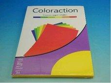 Kancelářský papír A4/100ks sytě žlutý 80g